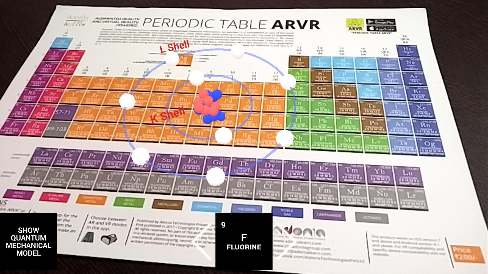 Periodic table arvr android apps on google play periodic table arvr screenshot gamestrikefo Image collections