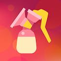 Breastfeeding Newborn tracker, pump and baby diary icon