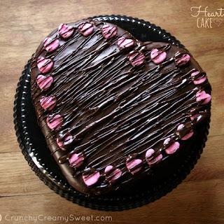 Chocolate Ganache Heart Cake