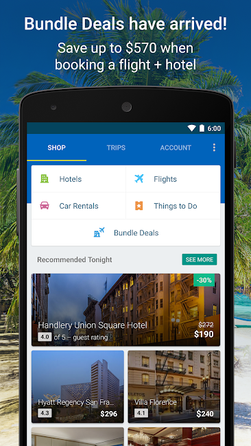 #1. Expedia Hotels, Flights & Cars (Android)