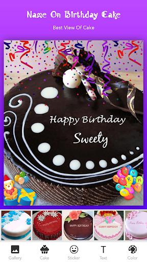 Fabulous Name On Cake Programu Zilizo Kwenye Google Play Personalised Birthday Cards Cominlily Jamesorg