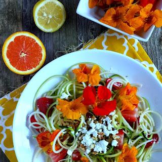 Raw Zucchini & Green Apple Noodle Salad with Citrus Vinaigrette