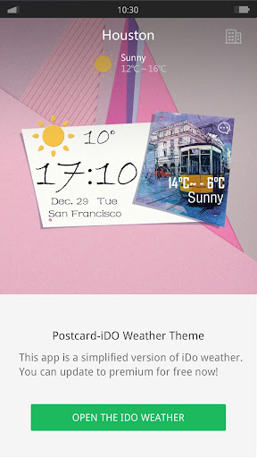 Postcard - iDO Weather widget