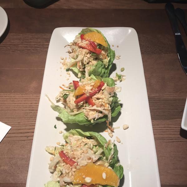 Thai lettuce wraps-- gluten free option!