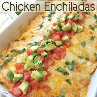 Creamy Jalapeno Lime Chicken Enchiladas