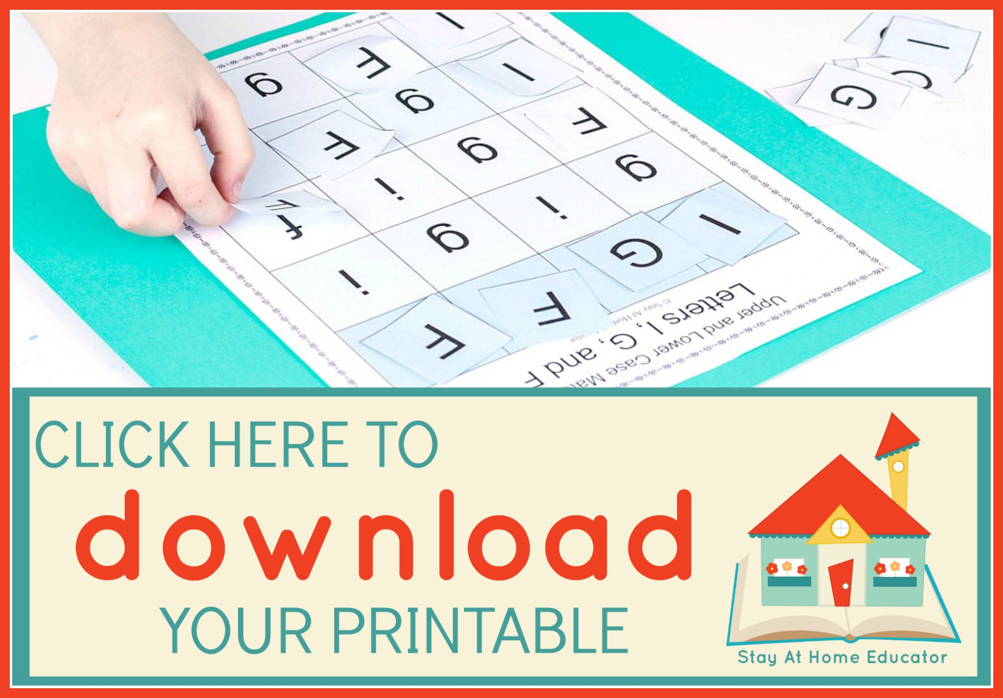 free preschool download of letter matching activity