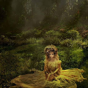 Forest Nymph   by Alizza Mistades - People Portraits of Women ( fantasy, fairy, forest, portraits, women, nymph )
