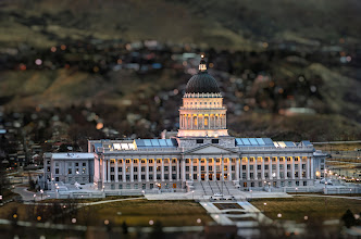 Photo: The Capitol Salt Lake City, UT. 2012.  As the sun went down, a small group of photographers was fortunate enough to be invited up to the sky deck of one of the office buildings for the LDS church, the views from this building were breathtaking.  This image was processed in +Adobe Photoshop Lightroomfirst and then brought into +onOne Software's FocalPoint where i used their planar mask bug to keep the building in focus while blurring the foreground and background. Using the brush I then extended the mask to include the upper sections of the buildings. Voila.  #jarviewalk  #templesunset  #utah  #slc  #saltlakecity