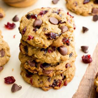 Vegan Cranberry Chocolate Chip Cookies (V, Gluten Free, Oat Flour) Recipe