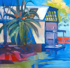 Photo: Big Break Marina, Oakley, acrylic by Nancy Roberts, copyright 2014. Private collection.