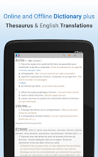 French Dictionary & Thesaurus- screenshot thumbnail