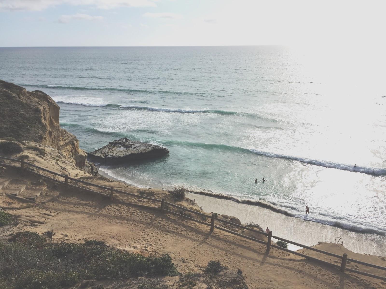 Cliffs and beaches in San Diego