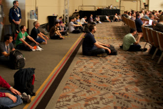 Photo: Very crowded room! People were sitting on the floor in the back!