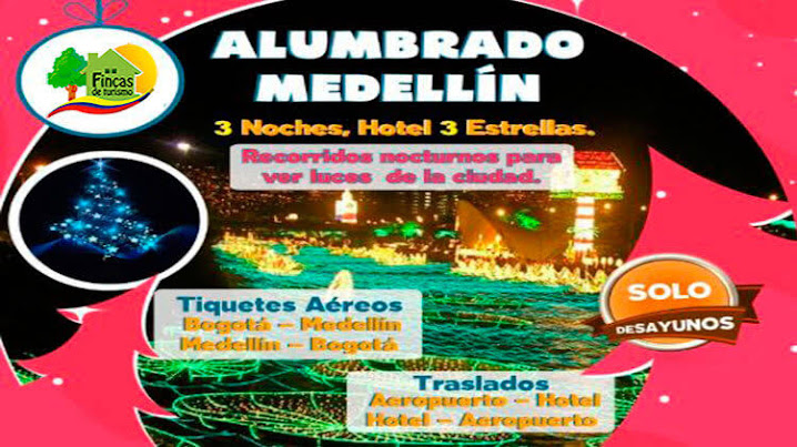 Paquetes Turísticos Alumbrado Medellín