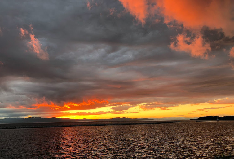 burlington vermont, lake champlaine, sunset, travel