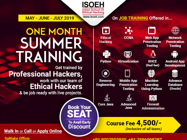 Indian School of Ethical Hacking (CEH CHFI CCNA CCNP Android