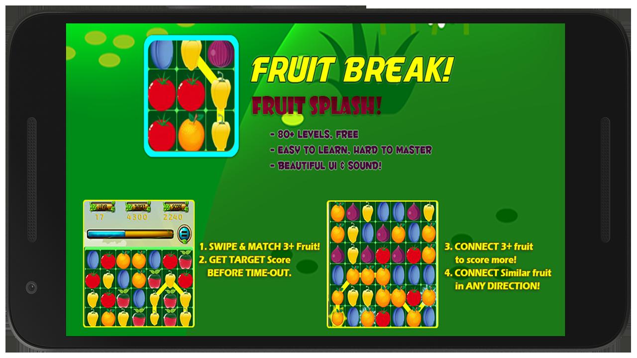 Fruit splash 2 - Fruits Break Fruit Splash Free Screenshot