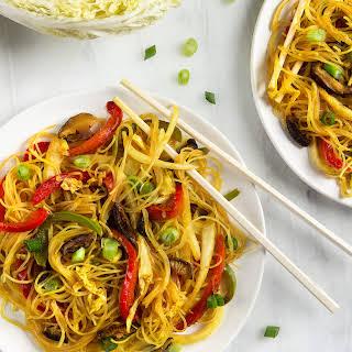 Singapore-Style Rice Noodles.