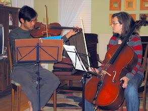 Photo: David and Lauren practicing