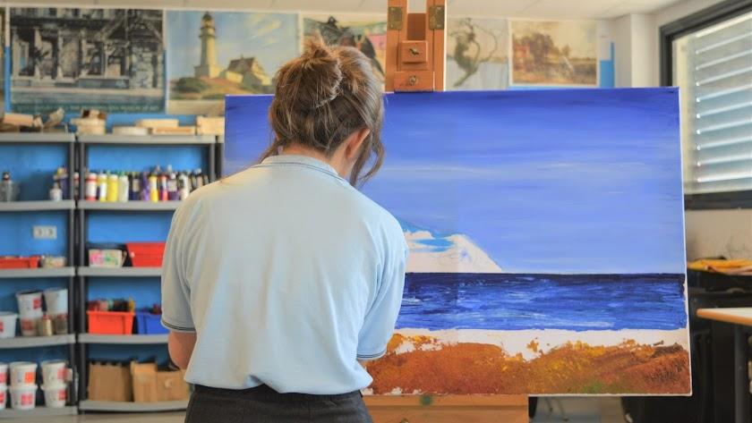 Clase de arte, The British School of Almería.