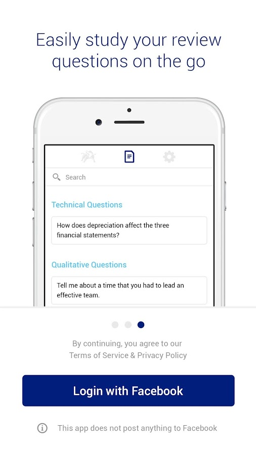 WS Frontier - Investment Banking Interview App- screenshot