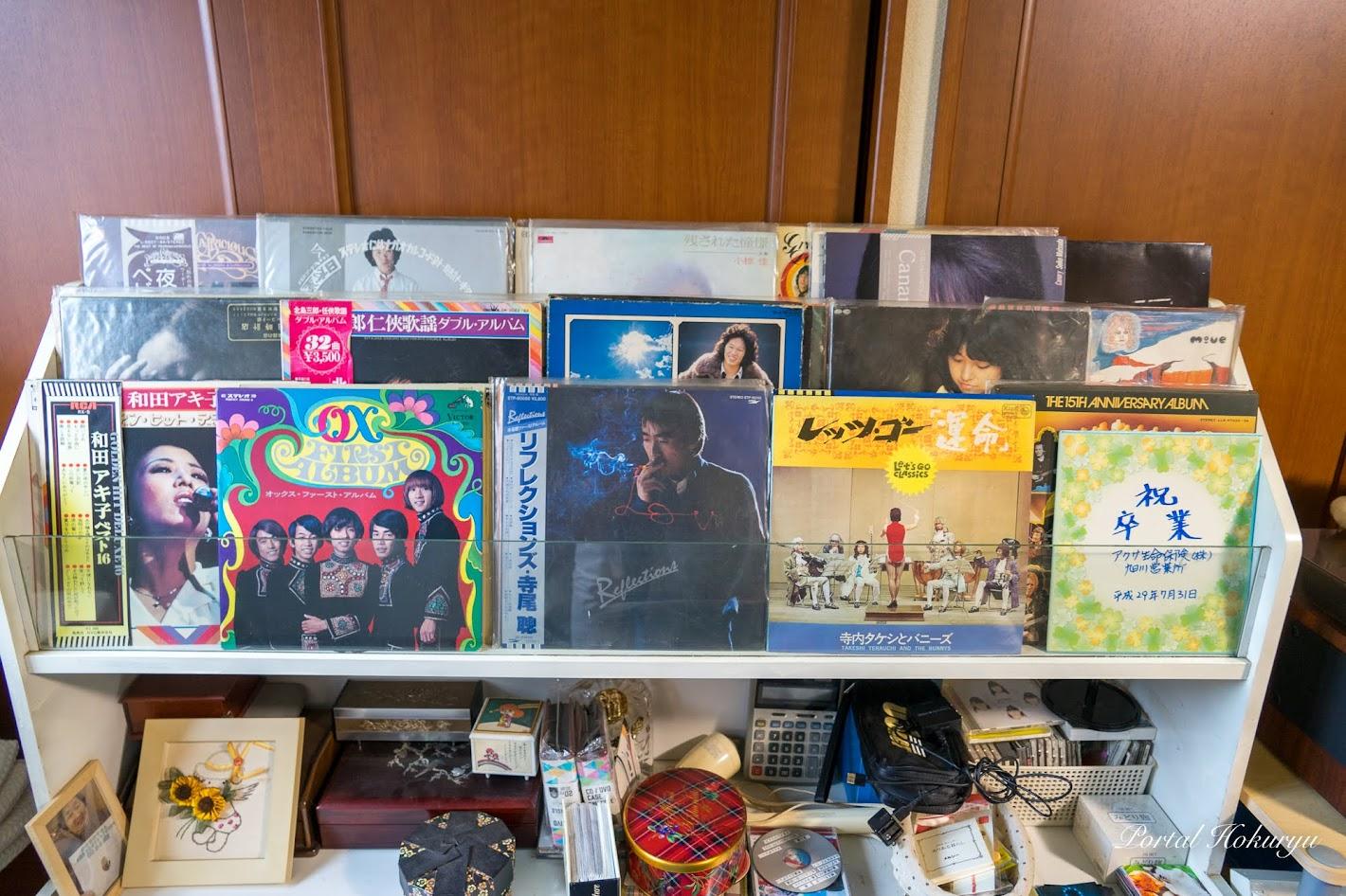 昭和が香る数々のレコード