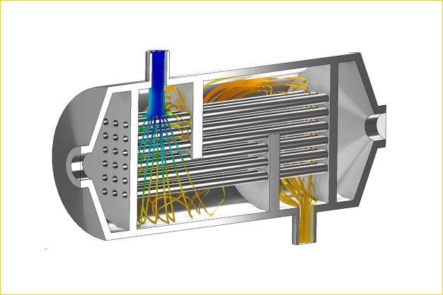 ANSYS - Расчет течения охлаждающей жидкости в теплообменнике