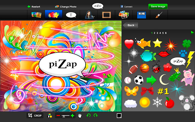 Pizap photo editor chrome web store overview reheart