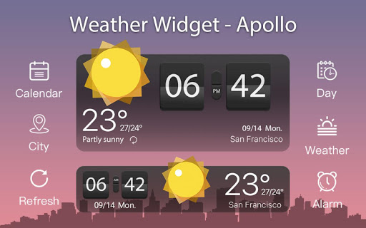 Weather & Clock Widget-Apollo Screenshot