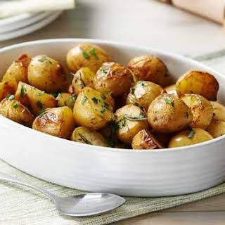 Herby Roasted Jersey Royals.