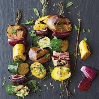 Eggplant, Zucchini and Squash Kabobs.
