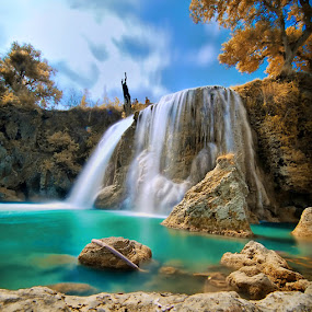 Toroan Waterfall by IkanHiu Pegel Pegel - Landscapes Waterscapes ( hiu, ikan, infrared, ikanhiu, ikanhiupegelpegel )