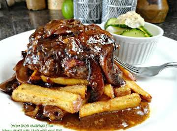 Bacon Hamburger Steak with Mushroom Gravy