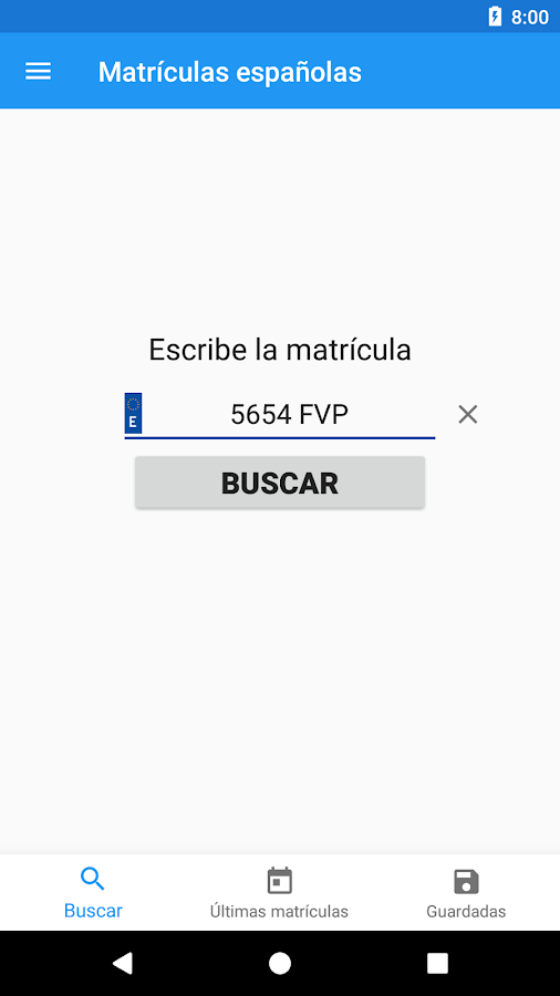 Spanish license plates - date- screenshot