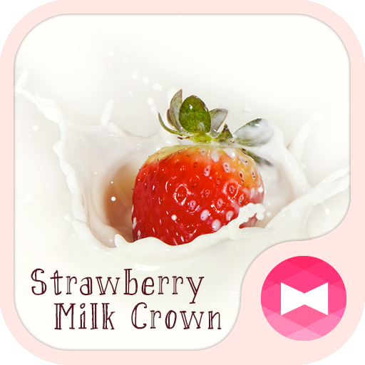 Cute Wallpaper Strawberry Milk Crown Theme Icon