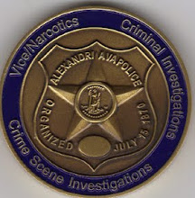 Photo: Alexandria Police Challenge Coin, Investigations Division (Reverse)