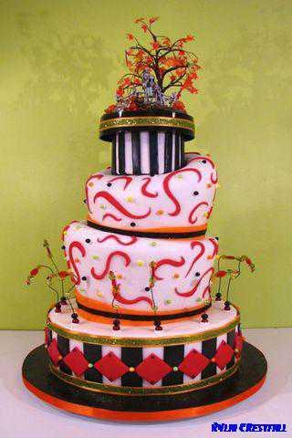 ウェディングケーキのデザイン