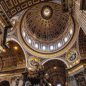 The Interior of St. Peters Basilica by Ryan Inhof - Buildings & Architecture Places of Worship ( rome, holy, christianity, church, st. peters, italy )