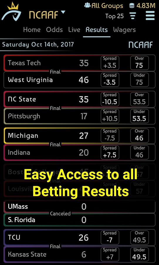 Sports Betting Game- screenshot
