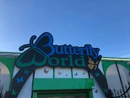 butterfly world logo on entrance of the attraction