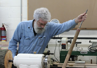 Photo: David previewed his tools, pulling out the ultimate hollowing tool,  in use since the 70s.