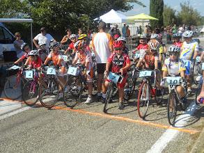 Photo: Les pupilles au départ du critérium.
