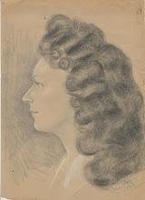 Photo: Portrait, Bleistift, Kohle, Kreide, 1947