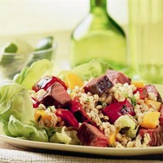 Beef, Mango & Barley Salad