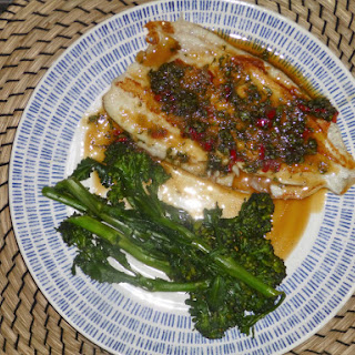 Seared Lemon Sole with a Lime, Chilli and Thai Basil Sauce Recipe