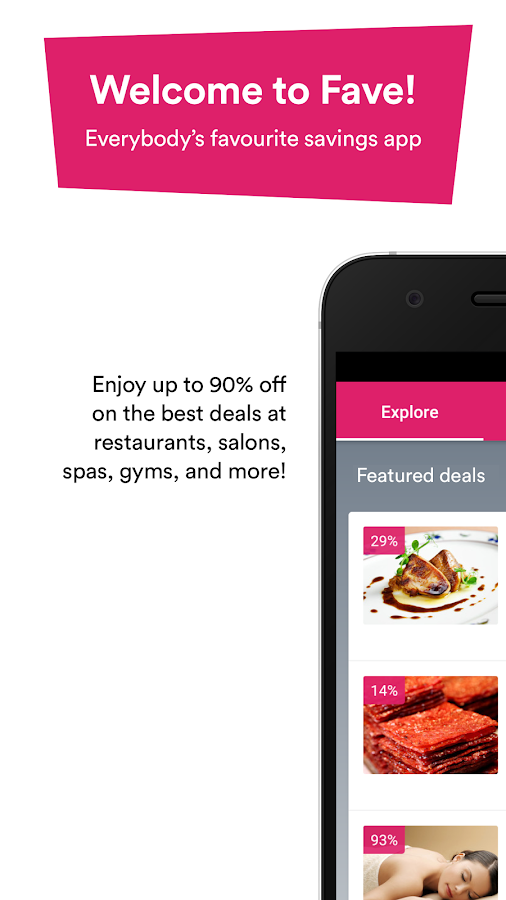 Fave: Food, Spa & Beauty Deals- screenshot