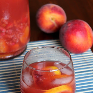 PEACH-RASPBERRY SANGRIA