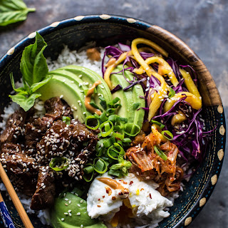 Korean Bulgogi BBQ Steak Buddha Bowls.
