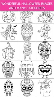 Scary Halloween Coloring Pages – Sugar Skulls | Free Games Online ...