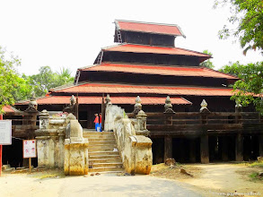 Photo: #003-Inwa (Ava), le monastère Bagaya Kyaung